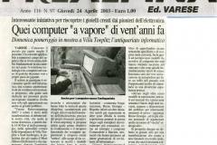 Prealpina 24 aprile 2003