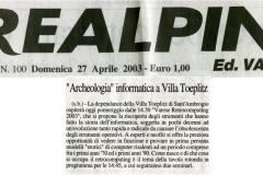Prealpina 27 aprile 2003
