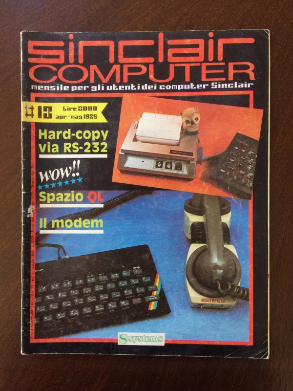 Sinclair Computer n. 13 apr/mag 1985